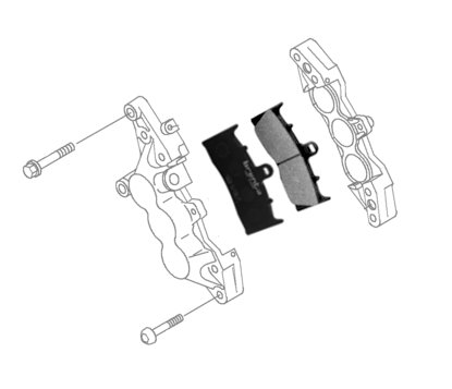 Brenta Motorcycle and scooter brake pads